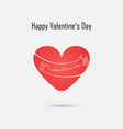 red heart sign and happy valentines day vector image vector image