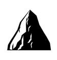 rock coal mining icon mountain of coal isolated vector image