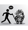 running man with shopping vector image vector image
