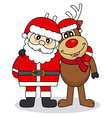 Santa Claus and reindeer friends vector image vector image