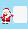 santa claus speaks loudly new year banner vector image vector image