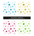 seamless pattern with puzzle pieces vector image vector image