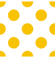 Seamless yellow polka dots on white background vector image vector image