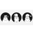 Set of Santa Claus face vector image vector image