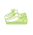 silhouette sneakers to practice exercise and train vector image