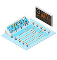 swimming competition concept 3d isometric view vector image vector image
