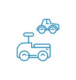 toy cars linear icon concept toy cars line vector image