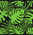 tropical pattern seamless texture with hand drawn vector image vector image