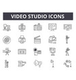 video studio line icons for web and mobile design vector image vector image