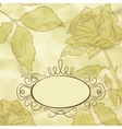 vintage floral card vector image vector image