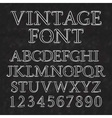 Vintage letters and numbers with flourishes Font vector image vector image