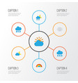 weather flat icons set collection of snow vector image vector image