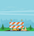 website improvement under construction flat icon vector image vector image