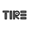 wheels and tires are black for a logo or emblem vector image vector image