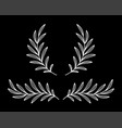white wreaths with olive branches with leaves vector image