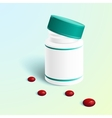 medicine capsule in transparent vector image