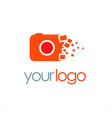 camera photo digital logo vector image