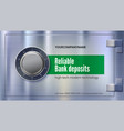 safety deposit box for storing money safe lock on vector image