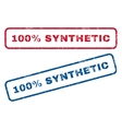 100 Percent Synthetic Rubber Stamps vector image vector image