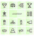 14 leadership icons vector image vector image