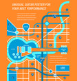a map a poster a guitar vector image vector image