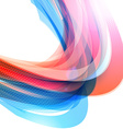 Abstract Colorful Futuristic Wave Background Blue vector image