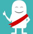 Animated personality award ribbon vector image vector image