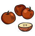 apples colorful doodle sticker vector image vector image