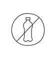 ban plastic trash vector image