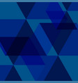 blue abstract square background vector image