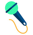 blue microphone on white background vector image vector image