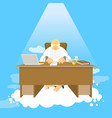 boss of paradise god job almighty of work place vector image vector image