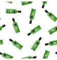 bottle alcohol of absinthe vector image vector image