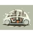 car future vector image vector image