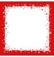 Christmas background with snowflakes border