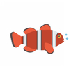 Clown Fish Icon vector image vector image