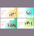 corporate party of workers having fun together vector image vector image