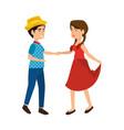 couple dancing icon vector image vector image