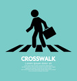 Crosswalk Graphic Sign vector image vector image