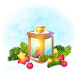 Cute Christmas postcard vector image vector image
