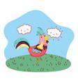 cute farm cartoon vector image