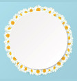 daisy chain round frame with shadow for your text vector image vector image