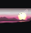 fantastic panorama fantasy landscape vector image vector image