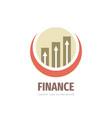 finance business logo design fintech icon vector image vector image