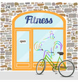 fitness club building vector image vector image
