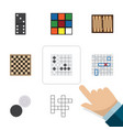 flat icon entertainment set of chess table sea vector image vector image