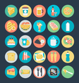 Food Colored Icons 1 vector image