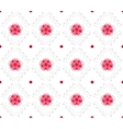 Geometrical pattern with abstract flowers vector image