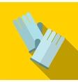 Glove flat icon vector image