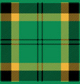 green black and yellow tartan plaid seamless patte vector image vector image